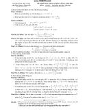 Đề khảo sát chất lượng lớp 12 môn Toán năm 2011 - THPT Chuyên