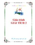 Giáo trình Giải tích 3 - PGS.TS. Nguyễn Xuân Thảo