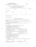 Đề thi Công chức tổng cục thuế năm 2014: Bài thi trắc nghiệm Tin học văn phòng (Đề chẵn)