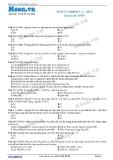 Hóa học lớp 11 - Chuyên đề Nitơ: Nitơ và nhóm V A (Đề 2)