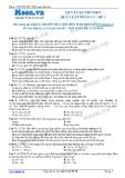 Chuyên đề LTĐH môn Sinh học: Quy luật menden-Quy luật phân li (Đề 1)