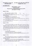 Đề thi tuyển sinh lớp 10 chuyên năm 2013-2014 môn Vật lý - Sở GD và ĐT tỉnh Đồng Tháp
