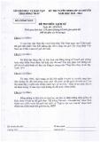 Đề thi tuyển sinh lớp 10 chuyên năm 2013-2014 môn Lịch sử - Sở GD và ĐT tỉnh Đồng Tháp