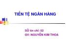 Bài giảng Tiền tệ ngân hàng - GV Nguyễn Kim Thoa
