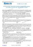 Chuyên đề LTĐH môn Sinh học: Tương tác át chế