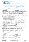 Chuyên đề LTĐH môn Sinh học: Quy luật menden-Quy luật phân li độc lập (Đề 1)