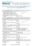 Chuyên đề LTĐH môn Hóa học: Axit cacboxylic phản ứng oxi hóa (Đề 4)