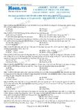 Chuyên đề LTĐH môn Hóa học: Anđehit-xeton-axit cacboxylic phản ứng oxi hóa