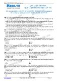 Chuyên đề LTĐH môn Sinh học: Quy luật menden-Quy luật phân li độc lập (Đề 2)