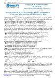 Chuyên đề LTĐH môn Sinh học: Luyện tập di truyền liên kết giới tính