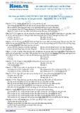Chuyên đề LTĐH môn Sinh học: Di truyền liên kết giới tính