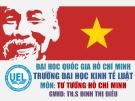 Đề tài: Những Câu chuyện về bản lĩnh, ý chí, nghị lực Hồ Chi Minh và bài học kinh nghiệm cho sinh viên thời đại mới