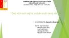 Bài thuyết trình Tổng hợp Axit axetic và sản xuất vinyl axetat