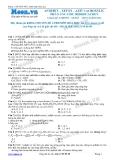 Chuyên đề LTĐH môn Hóa học: Anđêhit-Xeton-Axit cacboxylic phản ứng gốc hidocacbon