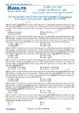 Chuyên đề LTĐH môn Sinh học: Tương tác gen tương tác bổ sung (Đề 1)