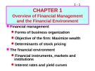 Bài giảng Chapter 1: Overview of Financial Management and the Financial Environment