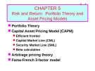 Bài giảng Chapter 5: Risk and return - Portfolio theory and asset pricing models