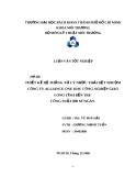 Luận văn tốt nghiệp: Thiết kế hệ thống xử lý nước thải dệt nhuộm công ty Alliance One khu công nghiệp Giao Long tỉnh Bến Tre công suất 800m3/ngày - GVHD ThS. Vũ Phá Hái