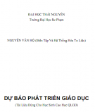 Dự báo Phát triển giáo dục: Phần 1 - Nguyễn Văn Hộ