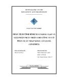 Luận văn tốt nghiệp: Phân tích tình hình xuất khẩu gạo và giải pháp phát triển cho công ty cổ phần xuất nhập khẩu An Giang (Angimex)