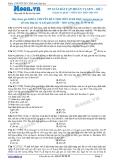 Chuyên đề LTĐH môn Sinh học: Phương pháp giải bài tập hoán vị gen (Đề 1)