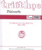 Tạp chí Triết học số 11 (138), Tháng 11 - 2002