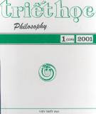 Tạp chí Triết học số 1 (119), Tháng 2 - 2001