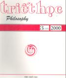 Tạp chí Triết học Số 3 (115), Tháng 6 - 2000