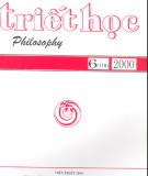 Tạp chí Triết học Số 6 (118), Tháng 12 - 2000