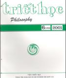 Tạp chí Triết học Số 6 (124), Tháng 9 - 2001