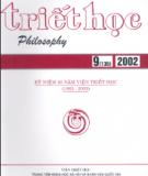 Tạp chí Triết học Số 9 (136), Tháng 9 - 2002
