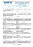 Chuyên đề LTĐH môn Vật lý: Gợn lồi và gợn lõm trong trường giao thoa (Đề 2)
