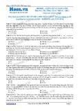 Chuyên đề LTĐH môn Vật lý: Gợn lồi và gợn lõm trong trường giao thoa (Đề 1)