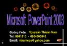 Bài giảng Microsoft Powerpoint 2003: Bài 1
