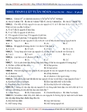 Luyện thi ĐH môn Hóa học 2015: Định luật tuần hoàn (phần 1) - Thầy Lê Phạm Thành