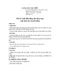 Giáo án chi tiết -Tiết 60: Suất điện động cảm ứng trong một đoạn dây chuyển động