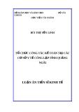 Luận án Tiến sĩ Kinh tế: Tổ chức công tác kế toán tại các cơ sở y tế công lập tỉnh Quảng Ngãi