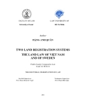 The doctoral dissertation of law: Two land registration systems the land law of Việt Nam and of sweden
