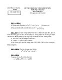 Đề thi học sinh giỏi cấp huyện môn Toán học lớp 8: Đề số 6