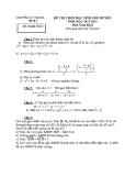Đề thi học sinh giỏi cấp huyện môn Toán học lớp 8: Đề số 1