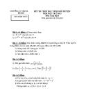 Đề thi học sinh giỏi cấp huyện môn Toán học lớp 8: Đề số 10