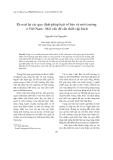 Tạp chí khoa học: Rà soát lại các quy định pháp luật về bảo vệ môi trường ở Việt Nam-Một vấn đề cần thiết cấp bách