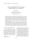 Tạp chí khoa học: Tổng quan pháp luật Việt Nam về phòng chống ô nhiễm dầu ở các vùng biển