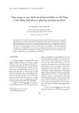 Tạp chí khoa học: Thực trạng các quy định của pháp luật hình sự Việt Nam về hệ thống hình phạt và phương hướng hoàn thiện