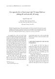 Tạp chí khoa học: Các nguyên tắc cơ bản trong Luật tố tụng hình sự-những đề xuất sửa đổi bổ sung