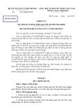 Thông tư quy định quy trình kỹ thuật quan trắc khí thải công nghiệp (Bản dự thảo)