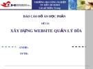 Báo cáo đồ án: Xây dựng Website quản lý đĩa