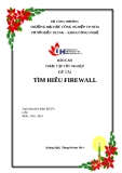 Báo cáo thực tập tốt nghiệp: Tìm hiểu Firewall