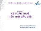 Bài giảng Kế toán thuế: Chương 2 - GV. Nguyễn Ngọc Thủy
