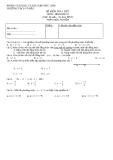 Tổng hợp đề kiểm tra 1 tiết môn Toán hình học lớp 8 - Trường THCS Võ Đắt